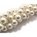 Perle sticla ivory 02 sfere 10mm