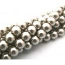 (10 buc.) Perle sticla capuccino sfere 8mm
