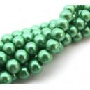 (10 buc.) Perle sticla verzi sfere 8mm