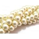 (10 buc.) Perle sticla ivory 01 sfere 8mm