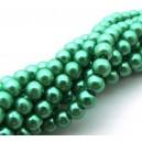 (10 buc.) Perle sticla verzi sfere 6mm