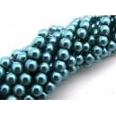 (10 buc.) Perle sticla turcoaz sfere 6mm
