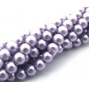(10 buc.) Perle sticla mov pal sfere 6mm
