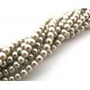 (10 buc.) Perle sticla capuccino sfere 4mm