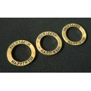 Conector happiness inel bronz cu tenta aurie 23mm