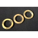 Conector joy inel bronz cu tenta aurie 23mm