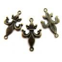 Conector fleur de lis bronz antic 32*19mm
