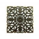 Conector filigranat bronz antic 40mm