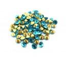 (10 buc.) Strasuri conice cristale turcoaz 5mm