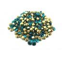 (10 buc.) Strasuri conice cristale turcoaz 4mm