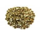 (10 buc.) Strasuri conice cristale galben pal 4mm