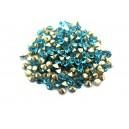 (10 buc.) Strasuri conice cristale turcoaz 3.6mm