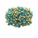 (10 buc.) Strasuri conice cristale turcoaz 3.4mm
