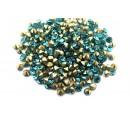 (10 buc.) Strasuri conice cristale turcoaz 3mm