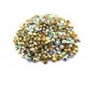 (10 buc.) Strasuri conice cristale albe cu efect AB 3mm