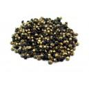 (10 buc.) Strasuri conice cristale negre 2.9mm