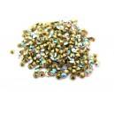(10 buc.) Strasuri conice cristale albe cu efect AB 2.8mm