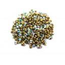 (10 buc.) Strasuri conice cristale albe cu efect AB 2.2mm