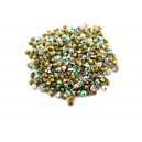 (10 buc.) Strasuri conice cristale albe cu efect AB 2mm