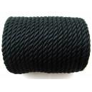 (1 metru) Snur nylon negru 5-6mm