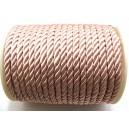 (1 metru) Snur nylon roz pal 5-6mm