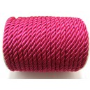 (1 metru) Snur nylon roz fucsia 5-6mm