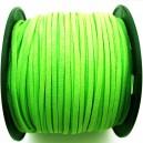 (1 metru) Snur faux suede verde neon 3mm