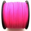 (1 metru) Snur faux suede roz neon 3mm