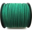 (1 metru) Snur faux suede verde smarald glitter 3mm