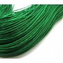 (1 metru) Snur bumbac cerat verde intens 1mm