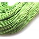 SBC1mm-12 - (1 metru) Snur bumbac cerat verde crud 1mm