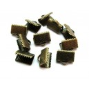 Capat organza bronz antic 13*8mm