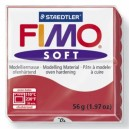 Fimo Soft cherry red 56 grame - 8020-26