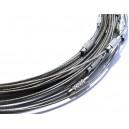 CSC03 - Colier sarma siliconata gri argintiu 44cm