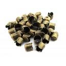 (10 buc.) Capat multisir bronz antic 6.5*6.5mm