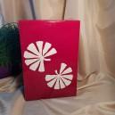 UNICAT - XCER21 - Vaza ceramica rosie cu frunze albe 30*20*14cm