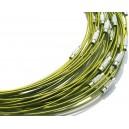 DISPONIBIL 1 BUCATI - CSC08 - Colier sarma siliconata verde olive 44cm - STOC LIMITAT!!!