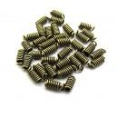 CM72 - (20 buc.) Capat snur arc bronz antic 8.5*3mm