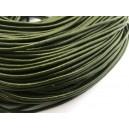 (1 metru) Snur piele naturala verde foarte inchis 2mm