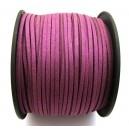(1 metru) Snur faux suede violet glitter 3mm