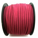 (1 metru) Snur faux suede roz intens 3mm