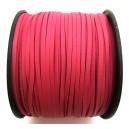 (1 metru) Snur faux suede roz fucsia imitatie piele 3mm