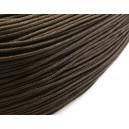 (1 metru) Snur bumbac cerat maro inchis 1.5mm