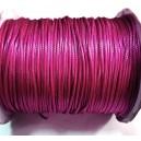 SPOL1.5mm-15 - (1 metru) Snur poliester cerat roz fucsia 1.5mm