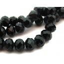 MF269 - Cristale negre rondele fatetate 12*8mm