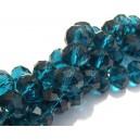 MF276 - Cristale albastru marin rondele fatetate 12*8mm