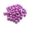 MAS6mm-06 - (10 buc.) Margele acril stardust roz fucsia sfere 6mm