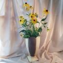 UNICAT - XCER04 - Vaza ceramica bej cu dungi maro nisipos 38cm
