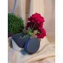UNICAT - XCER25D - Vas decorativ bleumarin si bej 14.5*15*10cm