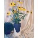 UNICAT - XCER24 - Vaza ceramica bleumarin si bej 26*15*9.5cm